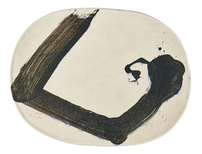 Jun Kaneko, 'Massive wall-hanging Oval Plate (#94-8-11)', 1994