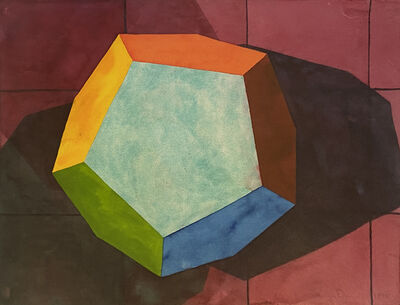 Ronald Davis, 'Dodecahedron II', 1995