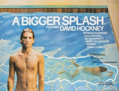 After David Hockney, 'A poster for A Bigger Splash', 1973