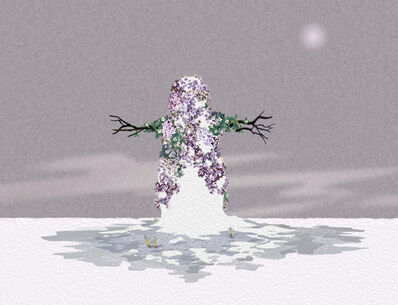 David Robbins, 'Lavender Snowman', 2006