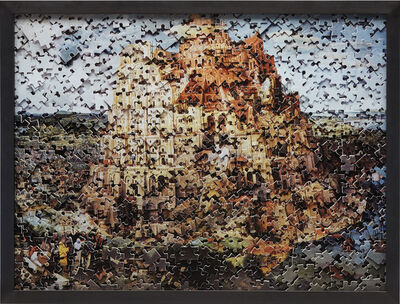 Vik Muniz, 'THE TOWER OF BABEL , AFTER PIETER BRUEGEL (GORDIAN PUZZLE)', 2007