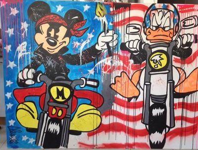 Clem$, 'Cartoon Bikers ', 2017