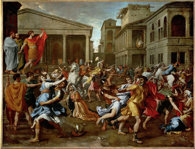 Nicolas Poussin, 'The Rape of the Sabine Women', 1637-1638