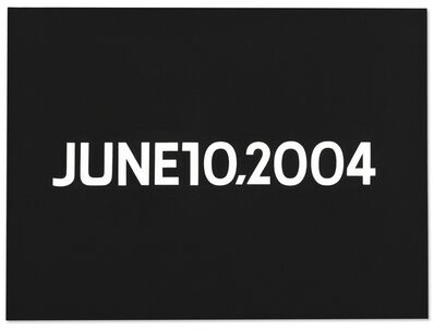 On Kawara, 'JUNE 10, 2004 (from Today series, 1966-2013)', 2004