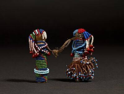 Unknown Artist, 'Pair of Sotho Gun Cartridge Dolls', Late 19th Century