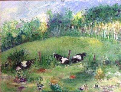 Flavia Bacarella, 'Cows Behind the Barn', ca. 2018