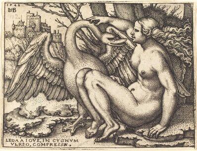 Sebald Beham, 'Leda and the Swan', 1548