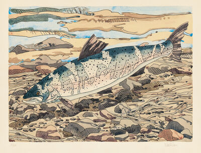 Neil G. Welliver, 'Salmon', 1977