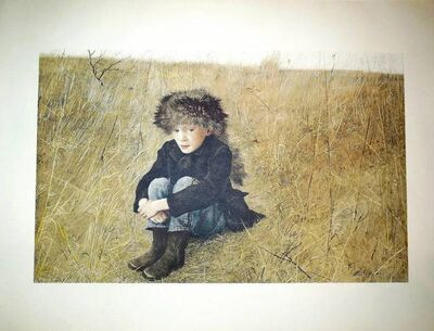 "Andrew Wyeth, 'Rare ""Faraway"" 1956 Collotype', 20th Century"