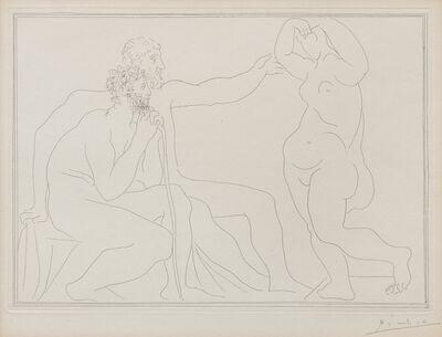 Pablo Picasso, 'Deux Sculpteurs devant une statue (from La Suite Vollard)', 1931