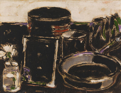David Milne (1882-1953), 'Water lily and Mirror (verso)', 1933
