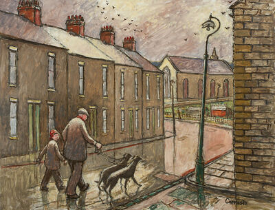 Norman Cornish, 'Walking the dogs; Salvin Street', ca. 1970