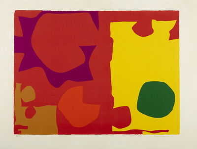 Patrick Heron, 'Six in Vermillion with Green in Yellow', 1970
