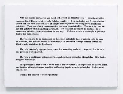 Art & Language, 'Painting I, No. 9', 1966