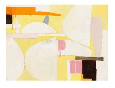 Javier Arizmendi, 'Still Life / abstract expressionistic geometry in soft yellow ', 2014