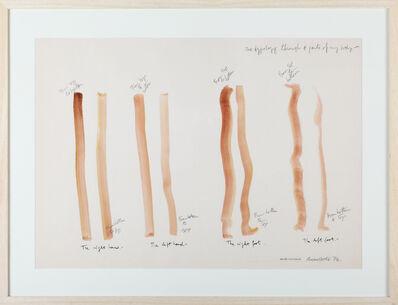 Osvaldo Romberg, '1 Typology through  four parts of my body', 1976