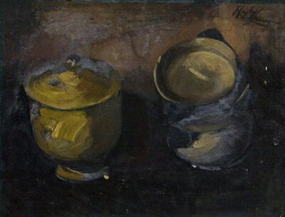 Hayley Lever, 'Still Life of Two Pots'