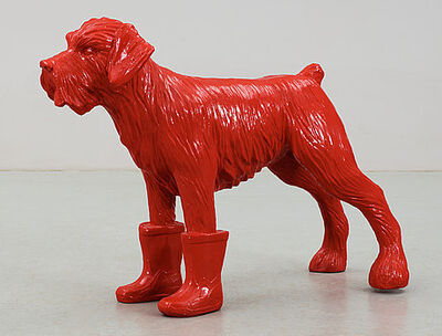 William Sweetlove, 'Red cloned dog with plastic boots', 2006