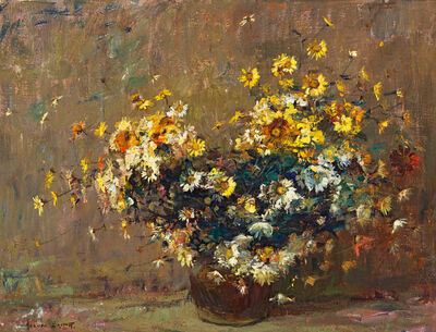 Adriaan Boshoff, 'Daisies in a Copper Pot'