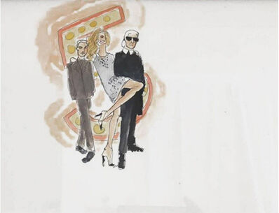 manuel santelices, 'Baz Luhrman, Giselle and Karl', 2017