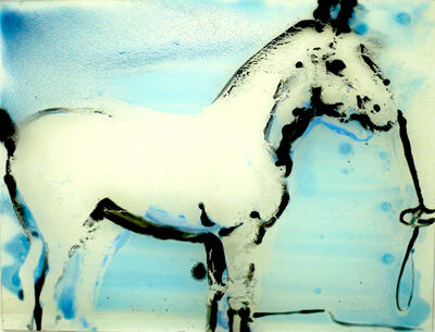 Ilona Szalay, 'Horse (Blue)', 2015
