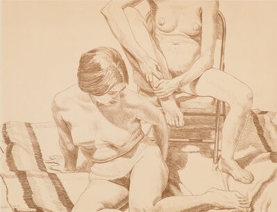 Philip Pearlstein, 'Two Nudes', 1969