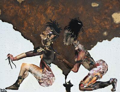 Penda Diakité, 'Braids and Shishi (Burning/Smoke)', 2020
