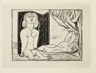 Pablo Picasso, 'Les Deux Femmes nues, State 11, 21st January 1946', 1946