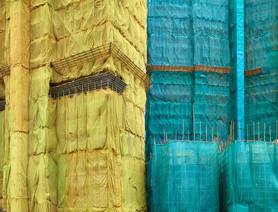Peter Steinhauer, 'Yellow-Teal Cocoon, Hong Kong - 2013', 2013