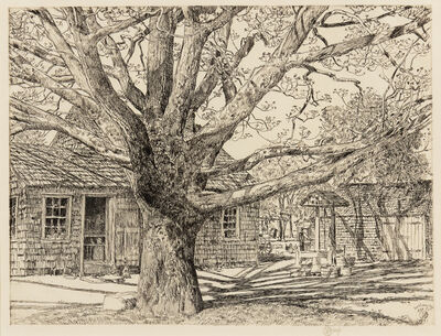 Childe Hassam, 'Oak and Old House in Spring', 1931
