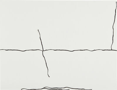 Analia Saban, 'Modular Drawing (One 14-inch Line Printed on Tape, Applied in Whole or in Parts): Landscape', 2008