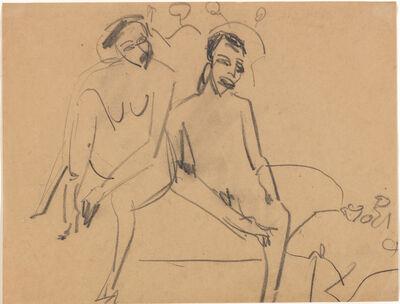Ernst Ludwig Kirchner, 'Nacktes Paar im Atelier', 1910