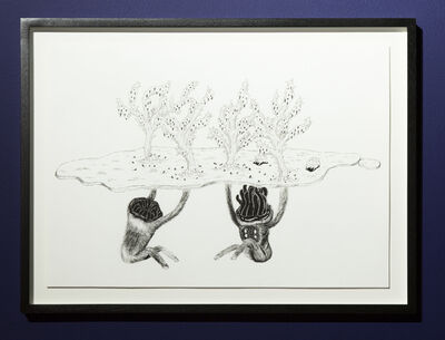 Atang Tshikare, 'Leano la polao (underhanded preying)', 2018