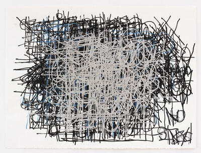 Dan Miller, 'Untitled (Gray and blue over black)', 2014