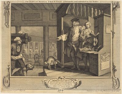 William Hogarth, 'The Industrious 'Prentice a Favorite, and entrusted by his Master', 1747
