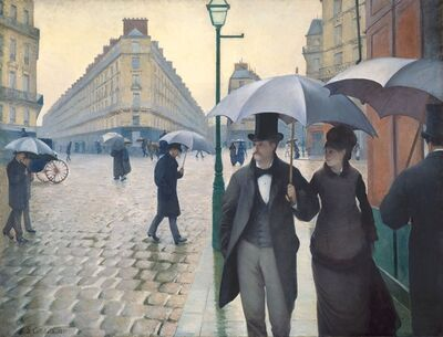 Gustave Caillebotte, 'Paris Street; Rainy Day', 1876-1877