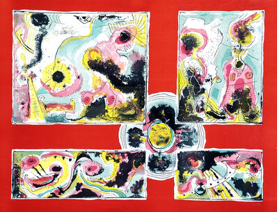 Le Oben, 'Red Abstract', ca. 1970