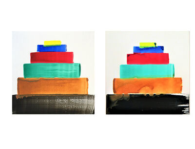 """Martin Creed, 'SET of 2- """"CHICAGO"""", No. 1370, SIGNED/Numbered Painted Album Covers/LP, Edition of 200.', 2012"""