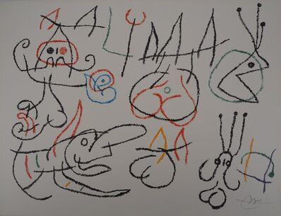 Joan Miró, 'Ubu, Characters near a fire', 1971