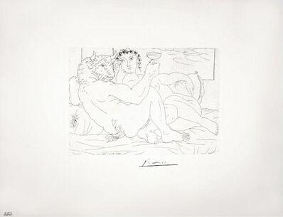 Pablo Picasso, 'Le Repos du Minotaure : Champagne et Amante (S.V. 83)', 1933