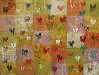 Hunt Slonem, 'Brighton / Multi-colored Butterflies', 2015