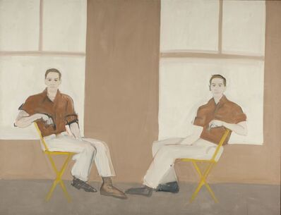 Alex Katz, 'Double portrait of Robert Rauschenberg', 1959