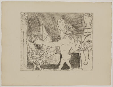 Pablo Picasso, 'Blind Minotaur guided by a young Girl II', 23.10.1934