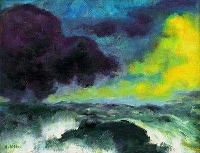 Emil Nolde, 'Bewegtes Meer', 1948