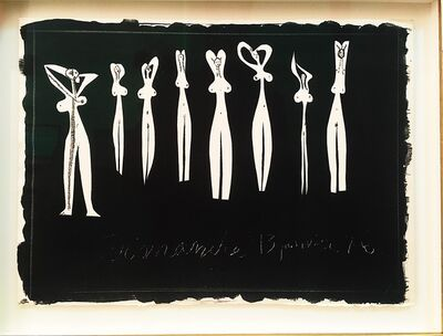 Pablo Picasso, 'Huit Silhouettes ', 13th of January 1946