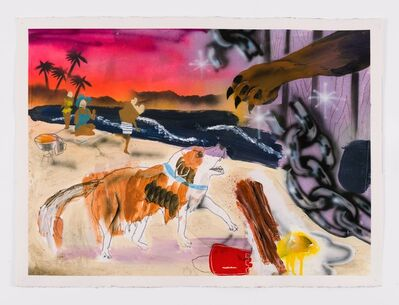 Pat Phillips, 'Untitled(Lassie...what is it Lassie....What is it girl? Black people walking their dog by the pond?)', 2019