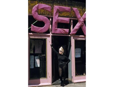 Sheila Rock, 'Jordan in Doorway of Sex', 1977