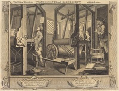 William Hogarth, 'The Fellow 'Prentices at Their Looms', 1747