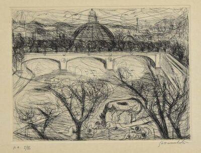 Nazareno Gattamenata, 'View of Rome', Late 20th Century