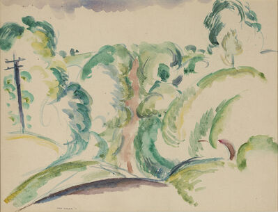 Max Weber, 'Country Road', 1911